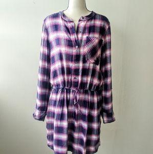 Gap Plaid Flannel Midi Dress
